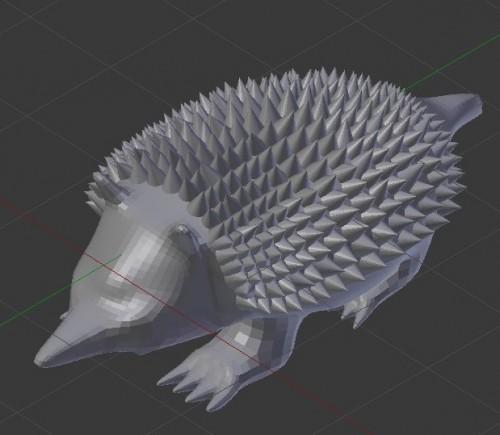 【Blender】モデリング練習メモ 「ハリモグラ」編