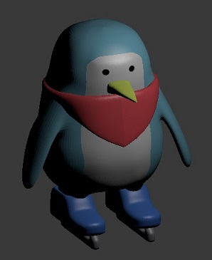 【Blender】モデリング練習メモ「ペンギン」編