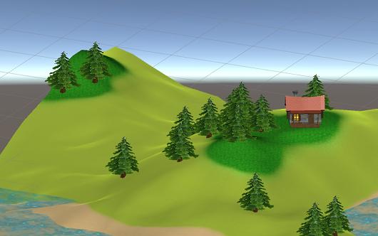 【Unity】Terrainで背景っぽい地形を作ってみる