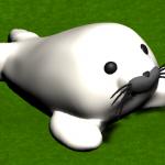 【Blender】モデリング練習メモ「アザラシのぬいぐるみ」