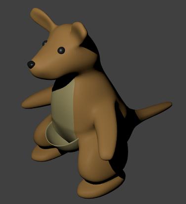 【Blender】モデリング練習メモ「カンガルーのぬいぐるみ」