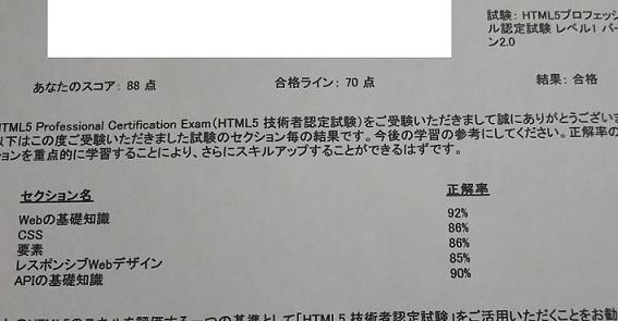 「HTML5プロフェッショナル認定試験 レベル1(Ver2.0)」を受験した感想と合格までの勉強方法について