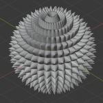【Blender】Instansingでトゲトゲしたオブジェクトを作る方法(2.80版)