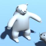 【Blender】モデリング練習日記「ホッキョクグマ」